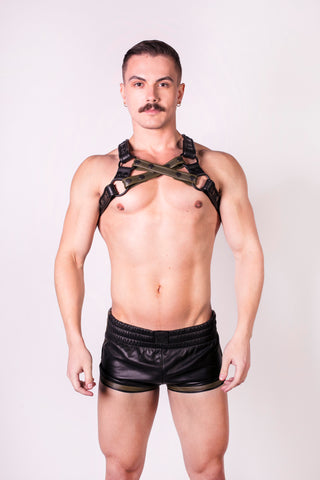 Leather Sports Shorts (4823895933066)