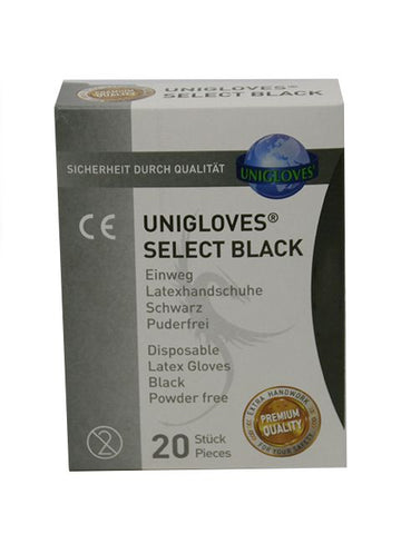 20 Black Disposable Gloves (4896947765386)