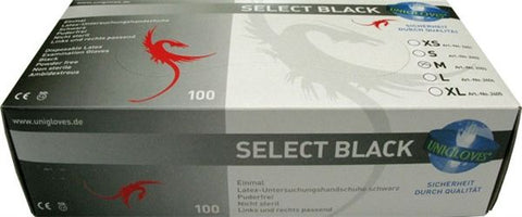 100 Black Disposable Gloves (4896927907978)