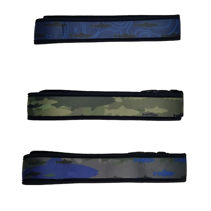Neoprene Wading Belt -Aqua Fish Camo, Topographic Camo, Fish Camo  | O'Pros Fly Fishing