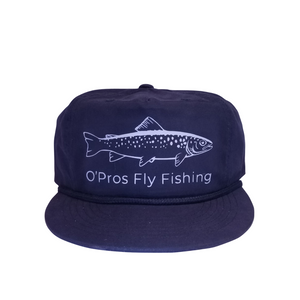 Trout 5 Panel Snapback Dark Blue | O'Pros Fly Fishing