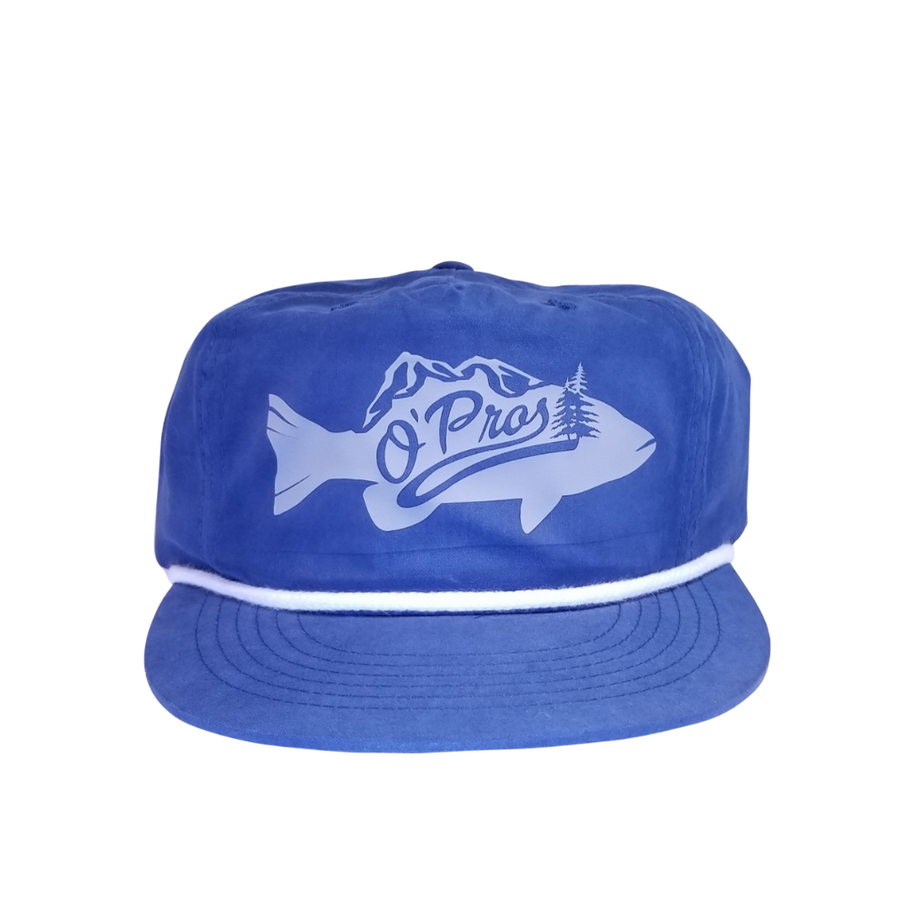Bass 5 Panel Snapback Blue | O'Pros Fly Fishing