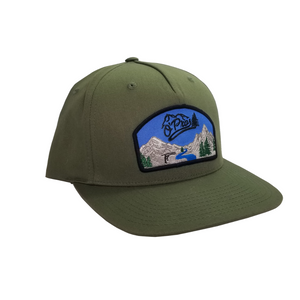 Olive Canvas Snapback | O'Pros Fly Fishing