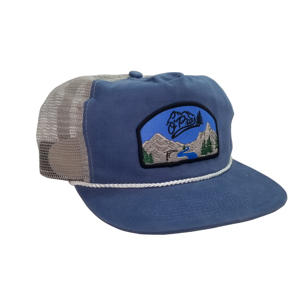 Vintage Snapback- Blue | O'Pros Fly Fishing