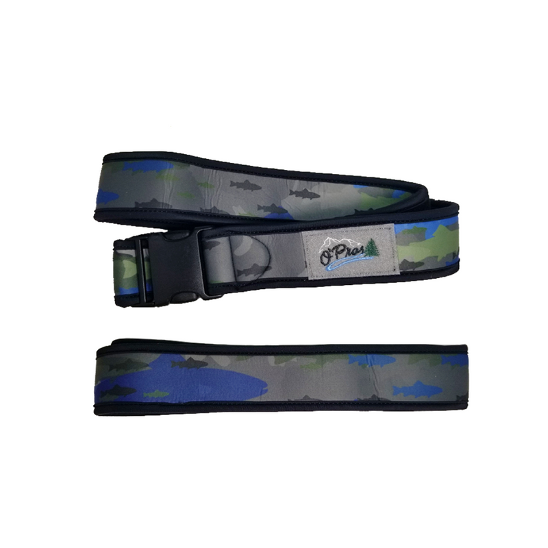 Neoprene Wading Belt -Aqua Fish Camo | O'Pros Fly Fishing
