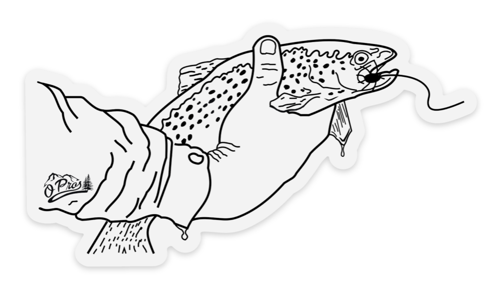 Trout in Hand Sticker