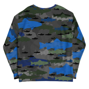 Aqua Fish Camo fleece lined Sweatshirt