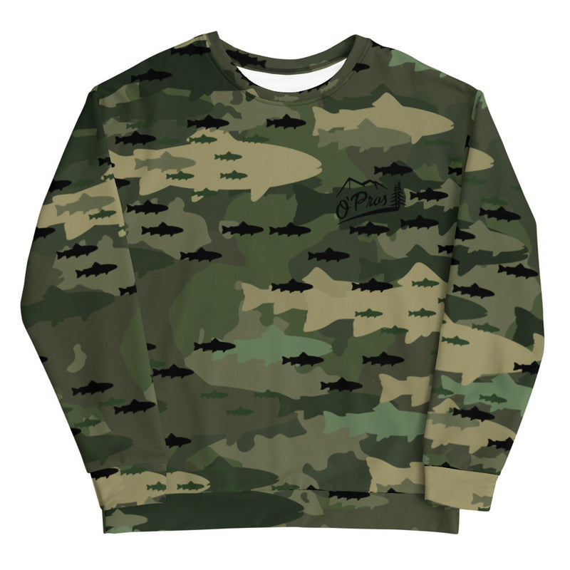 Fish Camo Fleece Lined Sweatshirt