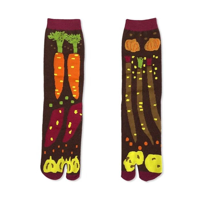 Japanese Tabi Socks 【Vegetables】 - Getamashi