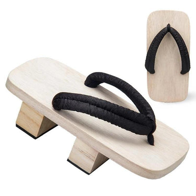 Men's Traditional Japanese Sandals 【Classic Black】 - Getamashi