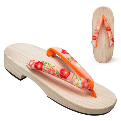 Women's Geta Sandals 【Orange Blossom】 - Getamashi