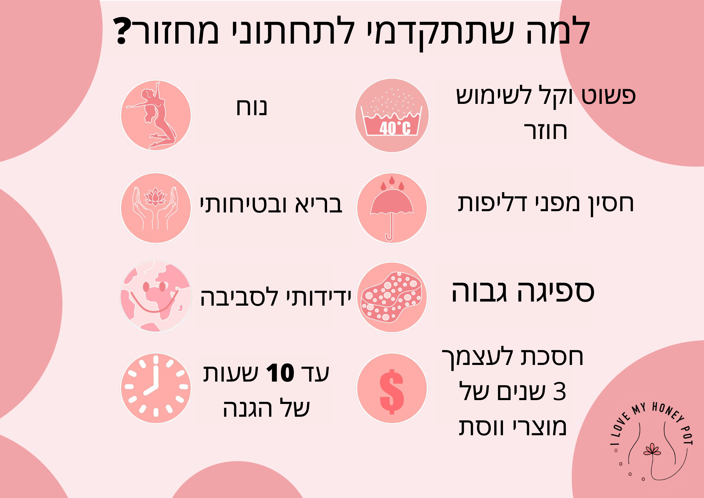infographic explaining why you should use a period cup best menstrual cup pink period cup גביעוניות ו גביעונית הכי טובה ונוחה