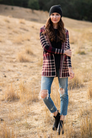 The Amelia Plaid Cardigan