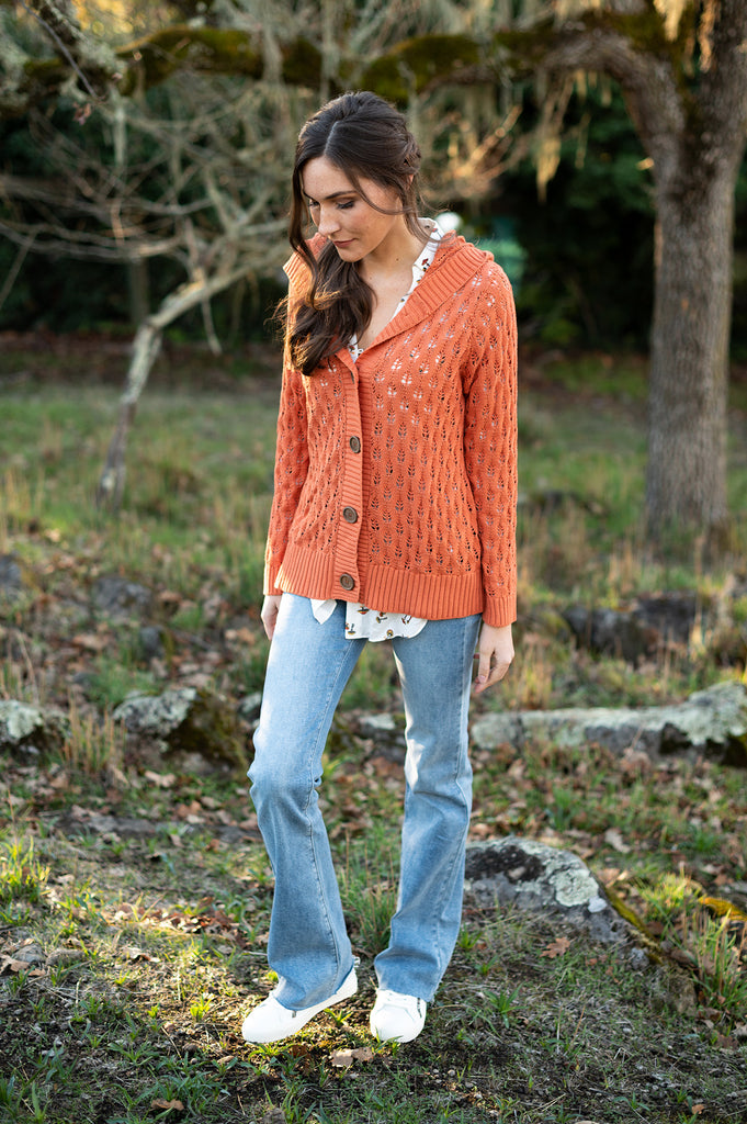 The Bernadette Sweater in Burnt Orange