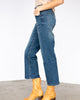 The Premium Denim Slim Wide Leg in Mid Wash