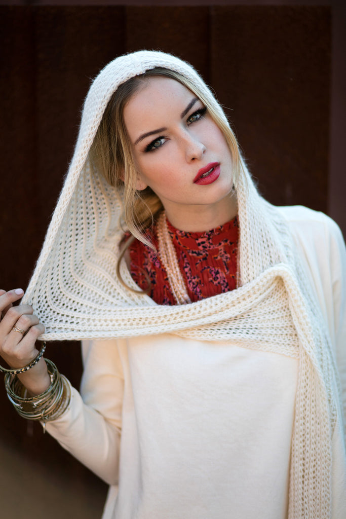 The Diana Wrap in Winter White