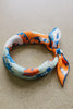 The Floral Bandana in Blue and Orange