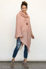 The Holly Poncho in Pink Spice