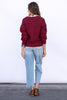 The Isabel Sweater in Red Currant