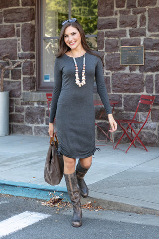 The Jenevieve Dress in Charcoal