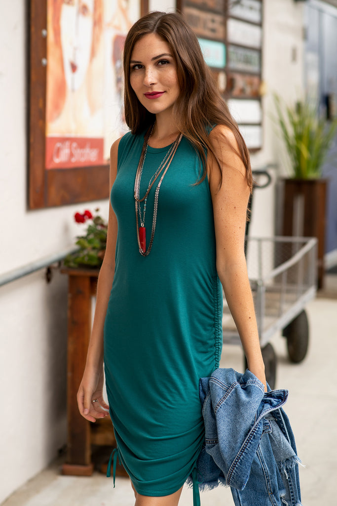 The Jenevieve Tank Dress in Pacific