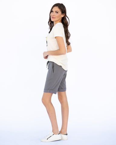 The Jogger Shorts in Charcoal