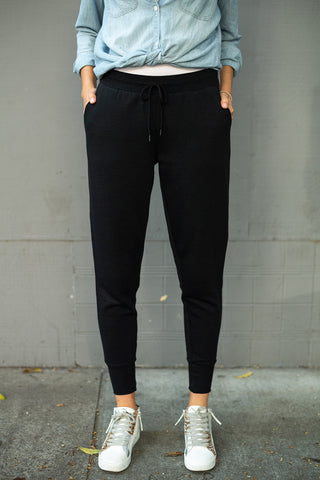 The Joggers in Black