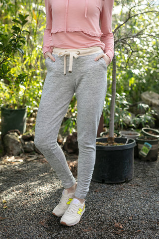 The Joggers with Ruched Ankle in Space Grey