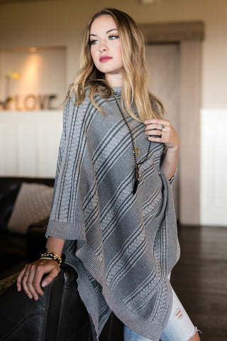 The Kalli Poncho in Ash