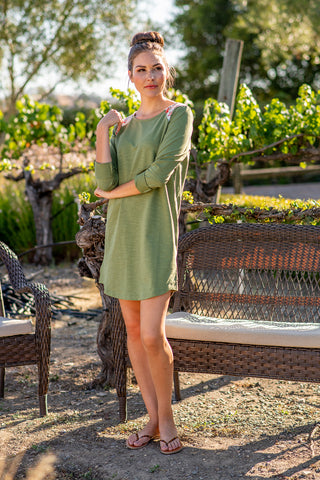 The Kylie Dress in Chive