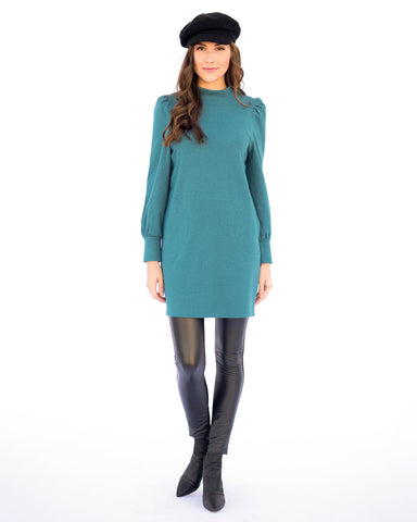 The Mandy Dress in Peacock Blue