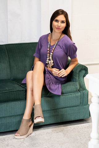 The Mikela Dress in Grape Compote