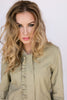 The Nora Bomber Jacket in Green Tea