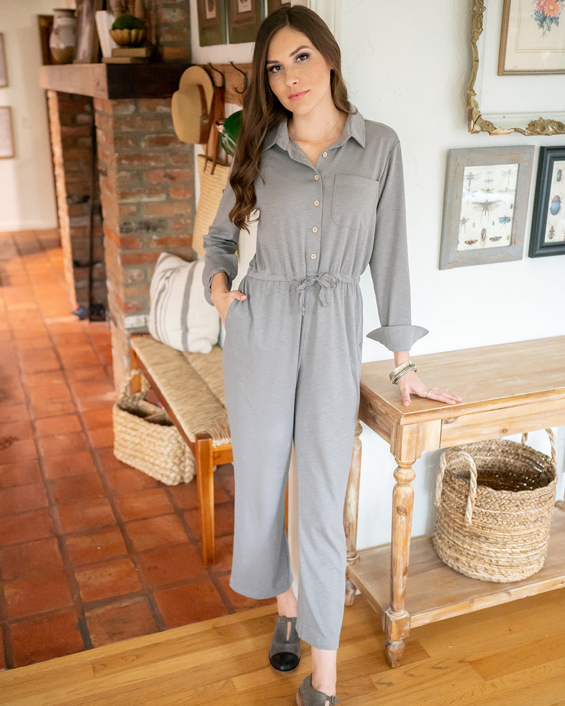 The Piper Jumpsuit in Storm Cloud