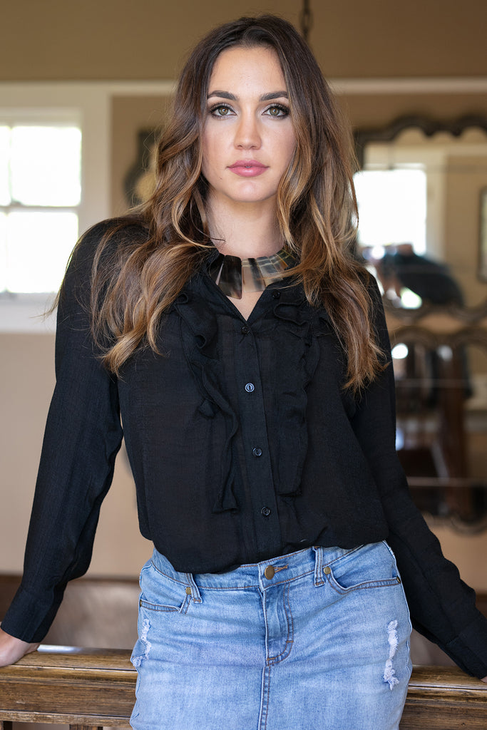 The Savannah Blouse in Black