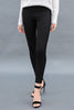 The Skinny Party Pant in Black with Velvet Trim