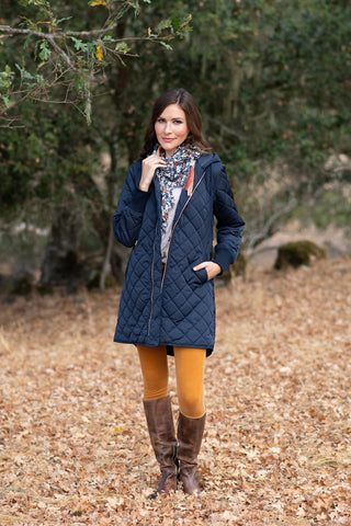 The Sydney Quilted Jacket in Navy