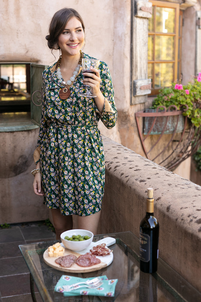 The Amy Shirt Dress in Dandelion