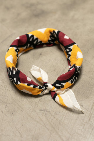 The Geometric Bandana in Red and Gold