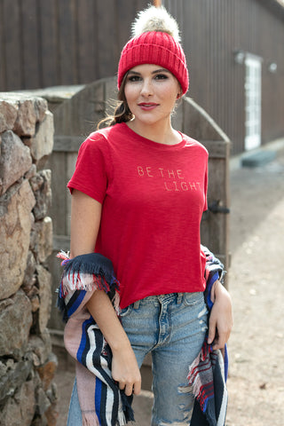Be The Light Tee in Red