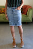 The Denim Skirt in Light Wash
