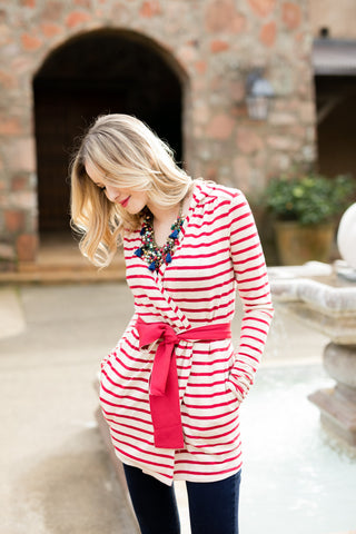 The Addyson Stripe in Red