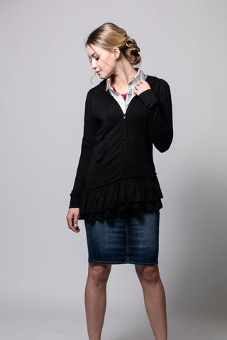 The Emma Ruffle in Black