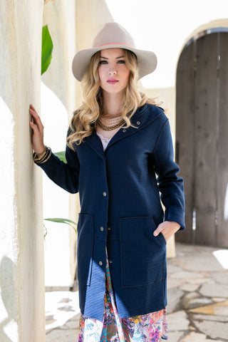 The Stephanie Coat in Navy