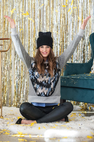 The Joy Crewneck in Sparkle