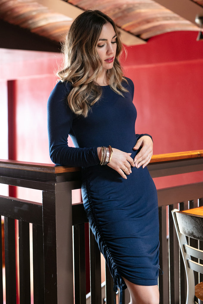 The Jenevieve Dress in Navy