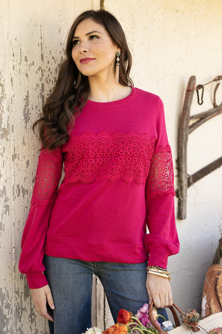 The Lily Lace in Magenta