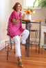 The Lydia Tunic in Vivacious Pink