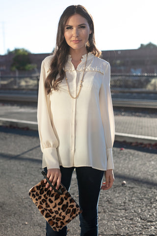 The Madison Blouse in Cream