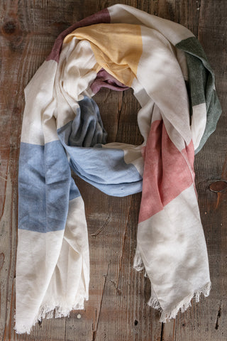 The Multi Color Stripe Wrap Scarf